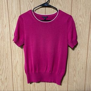 Brooks Brother Pink Short Sleeve Sweater